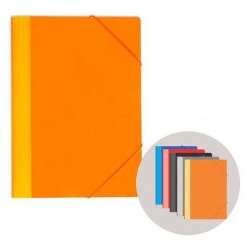 Папка на резинке A5 микс картон цветная