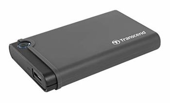 Transcend TS0GSJ25CK3, External enclosure for 2.5'' SATA SSD/HDD with USB3.0 (5Gb/s) interface, Black, Shock absorbing rubber for rugged protection
