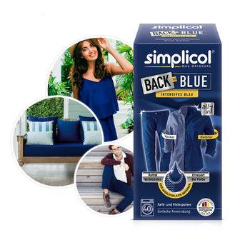 SIMPLICOL Back-to-BLUE Vopsea pentru reimprospatarea/revigorarea culorii in masina de spalat (albastru), 750 g
