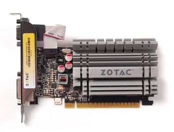 ZOTAC GeForce GT730 Zone Edition 4GB DDR3, 64bit, 902/1600Mhz, HDCP, VGA, DVI-D, HDMI, Low Profile, Passive Heatsink, 2x Low profile bracket included, Lite Pack