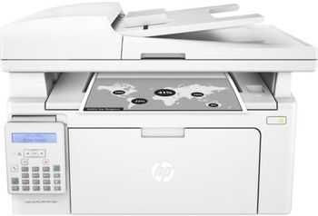 HP LaserJet Pro MFP M130fn Print/Copy/Scan/Fax up to 23ppm, 256 MB, 35-sheets ADF, 2-line LCD Display, 600dpi, up to 8000 pages, HP ePrint, Hi-Speed USB 2.0, Fast Ethernet 10/100Base-TX, CF217A (~1600 pages 5%), White
