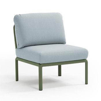 Кресло модуль центральный с подушками Nardi KOMODO ELEMENTO CENTRALE AGAVE-ghiaccio Sunbrella 40373.16.138