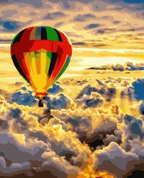 """PN1220 Картина по номерам Artissimo """"Среди облаков"""", 4 *, 24 цвета, 40x50 см"""