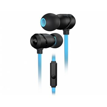 ROCCAT Aluma / Premium Performance In-Ear Headset, In-cable Microphone (omni-directional), In-cable Remote, Deep bass and crisp trebles, Multiple adapters, 6 ergonomic ear-tips, Protective case, 3.5mm jack, Black/Blue