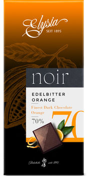 Темный шоколад с маслом апельсина  Elysia 70% 1895 100г