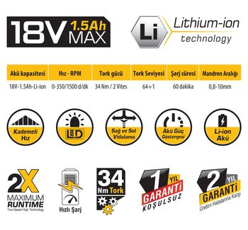 cumpără Mașina de găurit cu acumulator SGS 5133 18 V în Chișinău