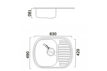 купить Раковина Haiba 4963 блестящая 490 x 630 x 180 мм в Кишинёве
