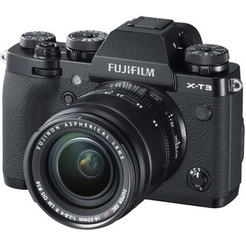 Fujifilm X-T3 black XF18-55mm F2.8-4 R LM OIS kit, Mirrorless Digital Camera Fujifilm X System (Aparat fotografic)