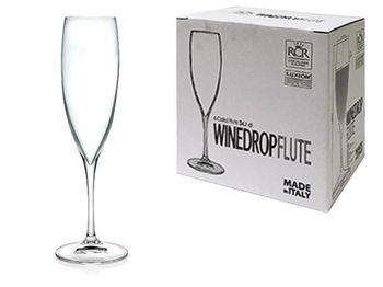 Набор бокалов для шампанского Wine Drop 6шт, 240ml