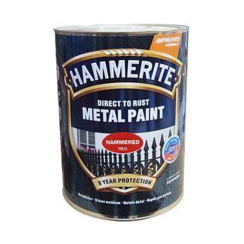 Hammerite Краска для металла Красная молотковая 0.75л