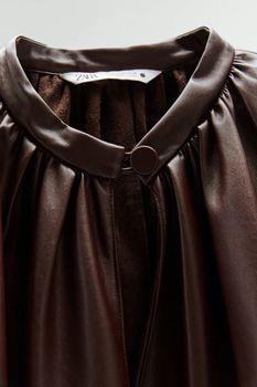 Блуза ZARA Коричневый 4786/050/606