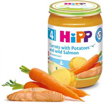 купить Hipp пюре морковь, картофель и лосось, 8+мес. 190г в Кишинёве