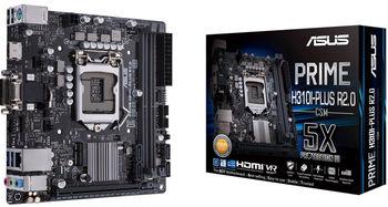 ASUS PRIME H310-PLUS R2.0, Socket 1151, Intel® H310 (9th/8th Gen CPU), Dual 2xDDR4-2666, 1xPCIe X16, CPU Intel graphics, VGA, HDMI, 4xSATA3, 1xM.2 slot, 2xPCIe X1, 3xPCI, 1xLPT, 1xCOM, ALC887 HDA, GbE LAN, 4xUSB3.1, Aura Sync, ATX