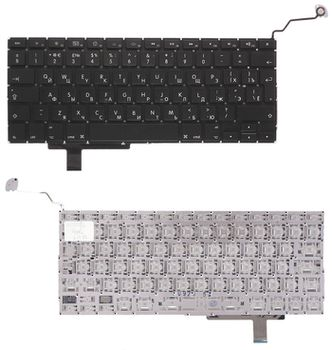 "Keyboard Apple Macbook Pro 17"" A1297 w/o frame ""ENTER""-big ENG/RU Black"