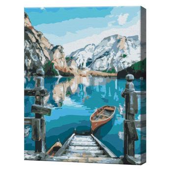Лодка у озера Брайес, 40х50 см, картина по номерам  BS29450