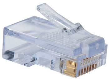 "RJ-45 Modular Plug, Cat.5E, Long Type, 30u"" Gold plated, 1 psc"