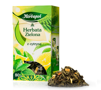 Чай зеленый Herbapol with Lemon, 80 г