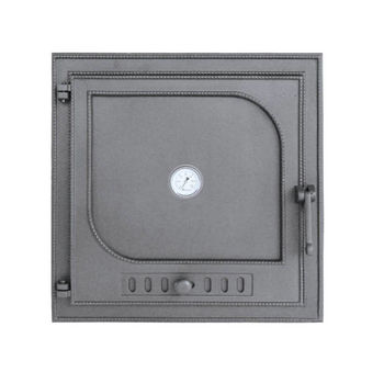 Дверца чугунная глухая левая с термометром DW9Т