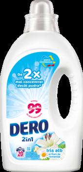 Жидкое моющее средство Dero 2в1 Белый Ирис и Ромашка, 1 л.