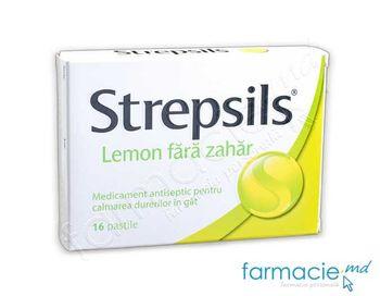 cumpără Strepsils® Lemon fara zahar pastile 1,2 mg + 0,6 mg N8x2 în Chișinău