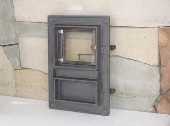 Дверца чугунная со стеклом правая DPK8