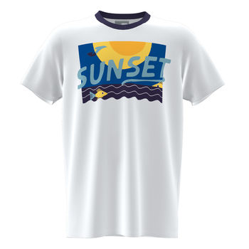 Футболка JOMA - SLEEVE T-SHIRT WHITE ROYAL