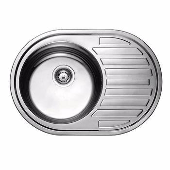 купить Мойка кухонная нержавеющая 0,6 мм (decor) 57/45 см лев5745L в Кишинёве
