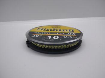 Поводочный материал Black Yellow 25LB, 11.4кг, 10м