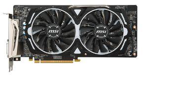MSI Radeon RX 580 ARMOR 8G OC /  8GB DDR5 256Bit 1366/8000Mhz, DVI, 2x HDMI, 2x DisplayPort, Dual fan - ARMOR 2X thermal design (Zero Frozr/Airflow Control Technology), TORX FAN, Gaming App, Retail