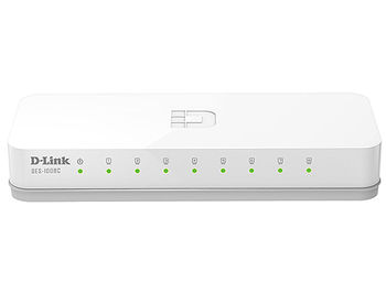 D-Link DES-1008C/A1B, 8-port UTP 10/100Mbps Auto-sensing, Stand-alone, Unmanaged, Palm-top Fast Ethernet Switch (retelistica switch/сетевой коммутатор)