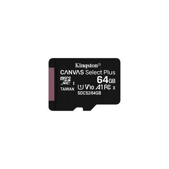 64GB Kingston Canvas Select Plus SDCS2/64GBSP microSDHC, 100MB/s, (Class 10 UHS-I) (card de memorie/карта памяти)