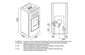 Печь пеллетная с водяным контуром - HYDRO 24 кВт