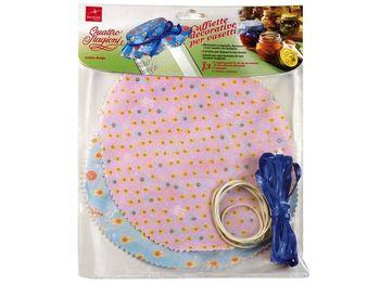 Set textil decorativ pentru borcan Q.S., 6+6+1