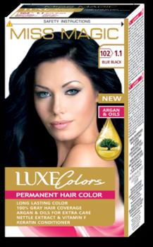 Краска для волос,SOLVEX Miss Magic Luxe Colors, 108 мл., 102 (1.1) - Дикая слива