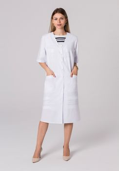 Белые халаты для медицинских работников