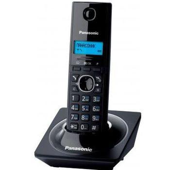 Telephone Dect Panasonic KX-TG1711UAB, Black, AOH, Caller ID (журнал на 50 вызовов), телефонный справочник (50 записей), русскоязычное меню, 12 мелодий звонка, подсветка дисплея, до 15 часов в режиме разговора, до 170 часов в режиме ожидания