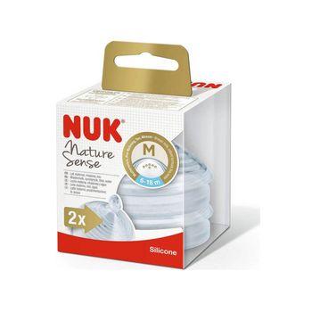 купить Соска силиконовая NUK NS для молока М (6-18 мес) 2 шт в Кишинёве