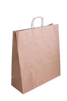 Бумажные крафт пакеты с кручеными ручками 45*17*48