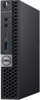 купить DELL Optiplex 7060 MFF Intel® Core® i7-8700Т (6 Cores/12MB/12T/up to 4.0GHz/35W), 16GB 1X16GB DDR4 DDR4, M.2 256GB SSD, Intel UHD 630, WiFi 802.11ac + BT, TPM, no ODD, 90W AC Adapter, USB mouse, USB KB216-B, Win10Pro, Black в Кишинёве