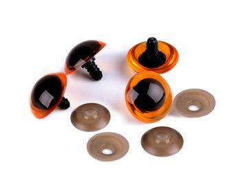 Ochi pentru jucării cu dispozitiv de siguranță, Ø26 mm / chihlimbar