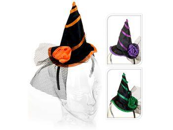 Шляпка ведьмы с цветком с обручем