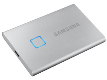 .500 ГБ (USB3.2 / Type-C) Samsung Portable SSD T7, серый (85x57x8 мм, 58 г, R / W: 1050/1000 МБ / с)