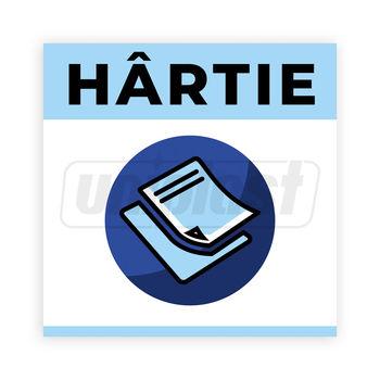 """купить Наклейки """"HARTIE"""" мусорных баков для раздельного сбора мусора (160 x 160mm) в Кишинёве"""