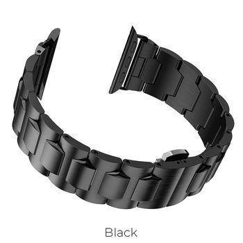 купить Ремешок Apple Watch Series1/2/3/4(44mm), Steel, Hoco Black в Кишинёве