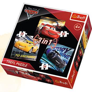 "34820 Trefl Puzzles - ""3in1"" -Racing legends/Disney cars 3"