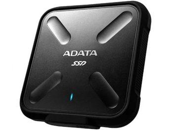 Портативный твердотельный накопитель ADATA SD700, 512 ГБ (USB3.1 / Type-C), черный (84x84x13 мм, 75 г, R / W: 440/430 МБ / с, IP68)