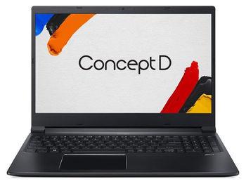 "ACER ConceptD 3 Pro Black+Win10P (NX.C50EU.00A) 15.6"" FHD IPS (Intel Core i7-9750H 6xCore  2.6-4.5GHz, 16GB (2x8) DDR4 RAM, 256GB PCIe NVMe SSD+1TB HDD, NVIDIA Quadro T1000 4GB GDDR5, WiFi6-AC/BT5.0, 4cell, 720P HDcam, FPS, RUS,Backlit, W10P, 2.35kg)"
