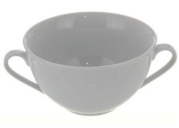 купить Чашка для супа с двумя ручками 300ml, D11сm, белая в Кишинёве