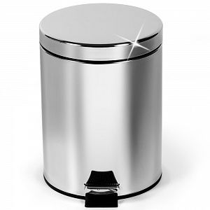 купить Tatkraft art moon MOON Ведро для мусора круглое с педалью и с внутренним ведром 3л 691014 в Кишинёве
