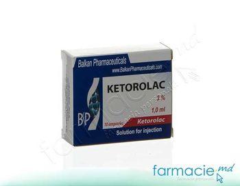купить Ketorolac sol.inj.3%1 ml N10 (Balkan) в Кишинёве